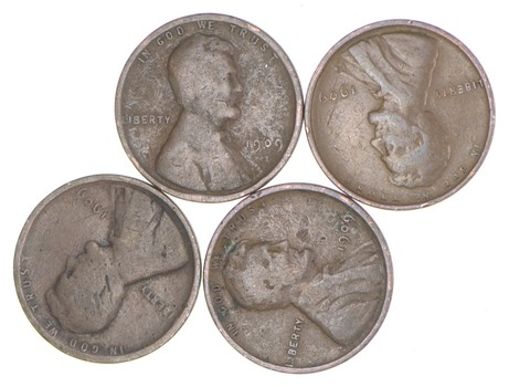 Lot of 4 - 1909 Lincoln Wheat Cents - FIRST YEAR - Collectible!