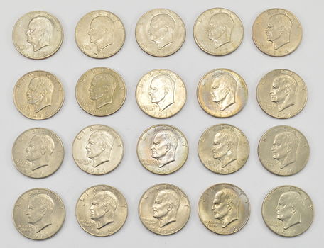Lot of 20 - 1971-1978 Clad Eisenhower Dollars - Chosen at Random