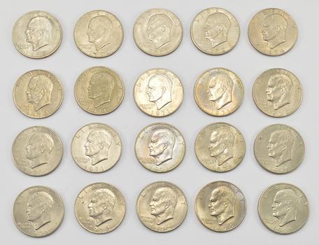 Lot of20 - 1971-1978 Clad Eisenhower Dollars - Chosen at Random