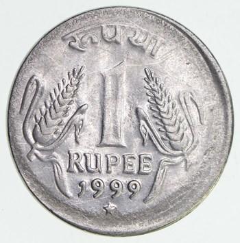 Major Error: 1999 1 Rupee Off Center India Coin