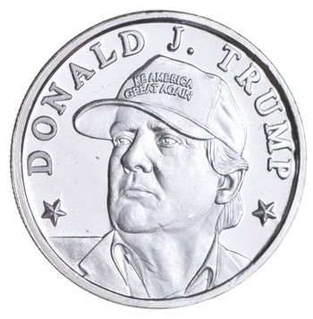 Make America Great Again!- 45th President Donald Trump 1/10th Troy Ounce Silver Round - .9999 Fine