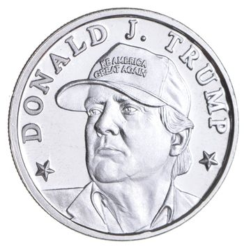 Make America Great Again! - 45th President Donald Trump 1/10th Troy Ounce Silver Round - .9999 Fine