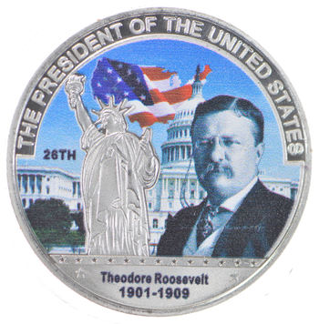 Make America Great Again Theodore Roosevelt Silver Round