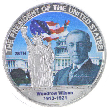 Make America Great Again Woodrow Wilson Silver Round