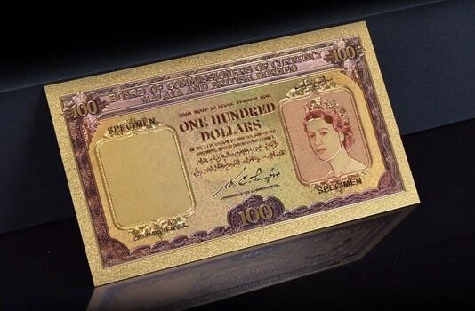Malaya and British Borneo One Hundred Dollars- Replica Bank Note