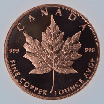 Maple Leaf - Canada - Tribute Series - 1 Oz .999 Fine Copper Round