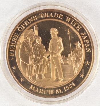 March 31, 1854 Perry Opens Trade With Japan - Bronze Historic Commemorative Medal