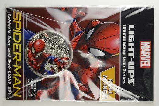 Marvel LIGHT-UPS - Fiji 2017 50 Cents - Spider-Man - LOW MINTAGE