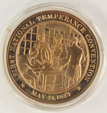 May 24, 1833 First National Temperance Convention - Bronze Historic Commemorative Medal