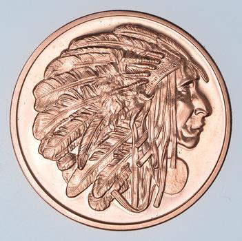 Medicine Chief - Native American Series - 1 Oz .999 Fine Copper Round