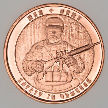 Men & Arms - Strength In Numbers - 1 Oz .999 Fine Copper Round