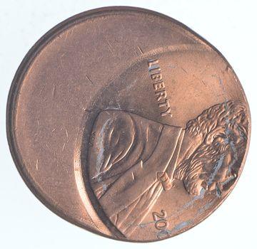 Mint Error - Ch BU Off Center Lincoln Memorial Cents