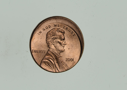 Mint Error - Ch BU Off Center Lincoln Memorial Cents