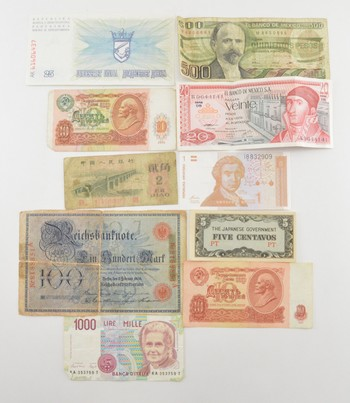 Mixed Lot of WORLD Currency - Nice Assortment