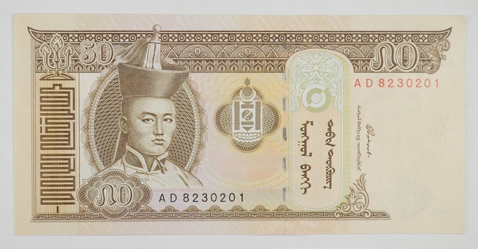 Mongolian Currency- 50 Tugrik (1993) - Rare Currency Note!