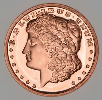 Morgan Bust - .999 Fine Copper 1 Oz Round