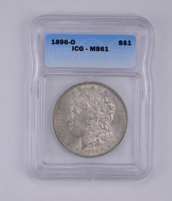 MS61 1896-O Morgan Silver Dollar - Graded by ICG