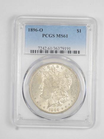MS61 1896-O Morgan Silver Dollar - Graded PCGS