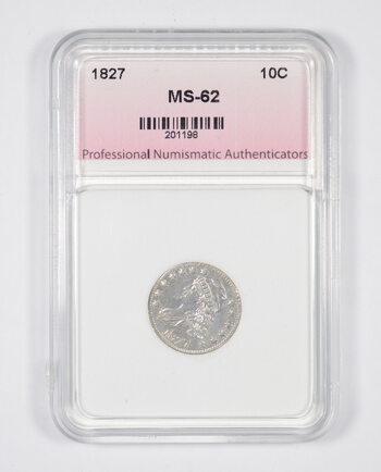 MS62 1827 Capped Bust Dime - Graded PNA