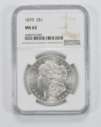MS62 1879 Morgan Silver Dollar - NGC Graded