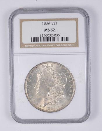 MS62 1889 Morgan Silver Dollar - Graded NGC