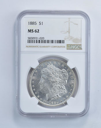 MS-62 GRADED - 1885 Morgan Silver Dollar- NGC