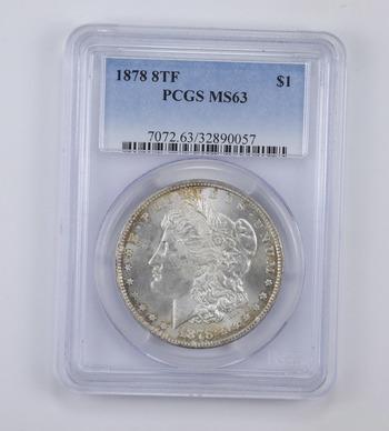 MS63 1878 8TF Morgan Silver Dollar - Graded PCGS