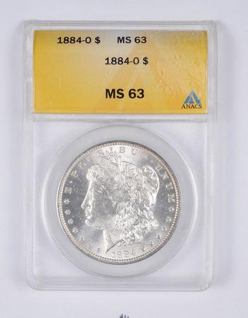 MS63 1884-O Morgan Silver Dollar - Graded ANACS