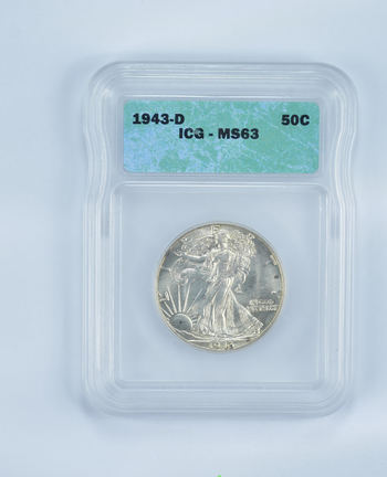 MS63 1943-D Walking Liberty Half Dollar - Graded ICG