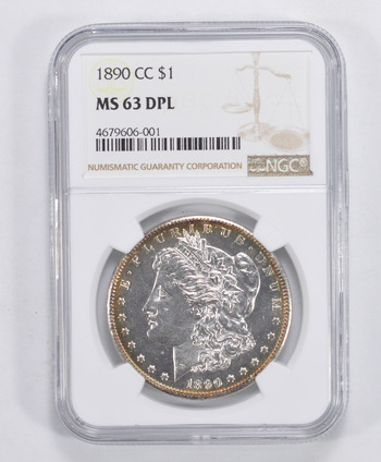 MS63 DPL 1890-CC Morgan Silver Dollar - NGC Graded