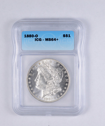 MS64+ 1880-O Morgan Silver Dollar - Graded ICG