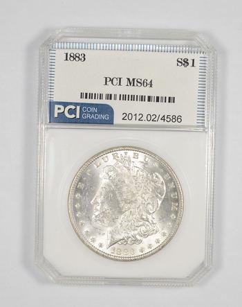 MS64 1883 Morgan Silver Dollar - Graded PCI