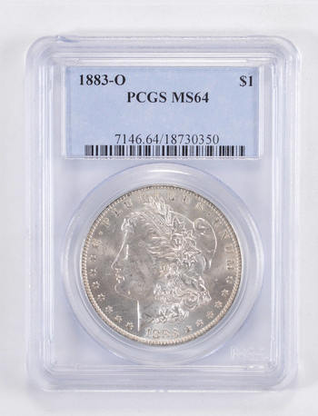 MS64 1883-O Morgan Silver Dollar - Graded PCGS