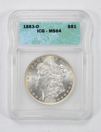 MS64 1883-O Morgan Silver Dollar - ICG Graded