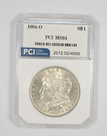 MS64 1884-O Morgan Silver Dollar - Graded PCI