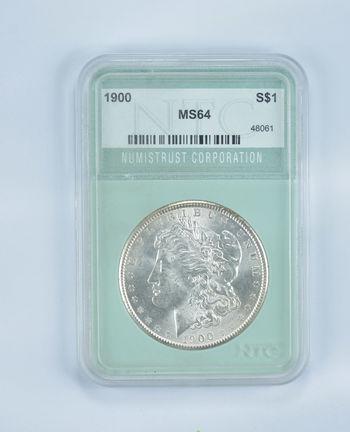 MS64 1900 Morgan Silver Dollar - Graded NTC