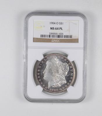 MS64 PL 1904-O Morgan Silver Dollar - Graded NGC