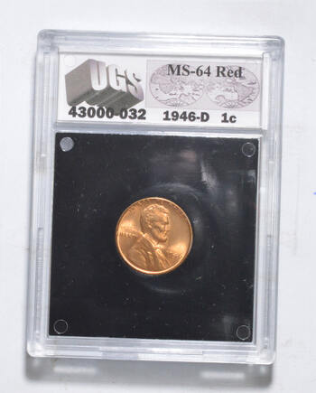 MS64 RD 1946-D Lincoln Wheat Cent - Graded UGS