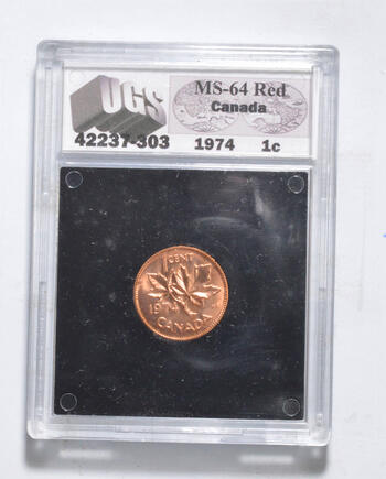 MS64 RD 1974 Canada 1 Cent - Graded UGS