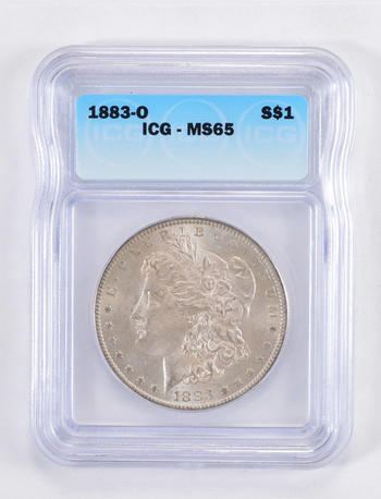 MS65 1883-O Morgan Silver Dollar - Graded ICG