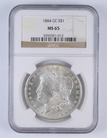 MS65 1884-CC Morgan Silver Dollar - Graded NGC