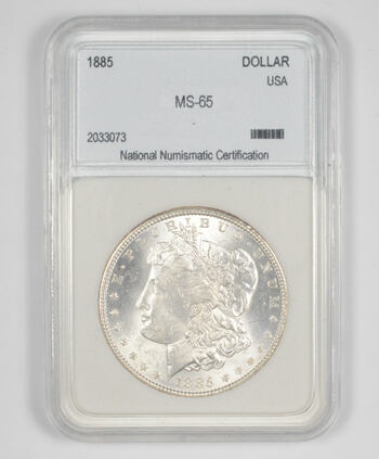 MS65 1885 Morgan Silver Dollar - Graded NNC