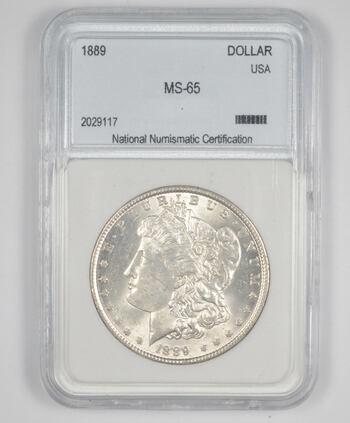 MS65 1889 Morgan Silver Dollar - Graded NNC