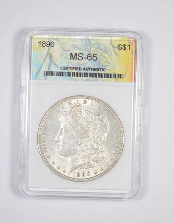 MS65 1896 Morgan Silver Dollar - Graded GCGS