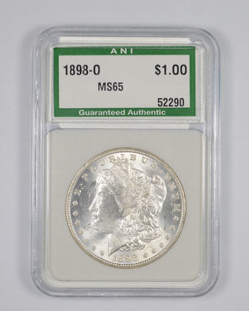 MS65 1898-O Morgan Silver Dollar - Graded ANI