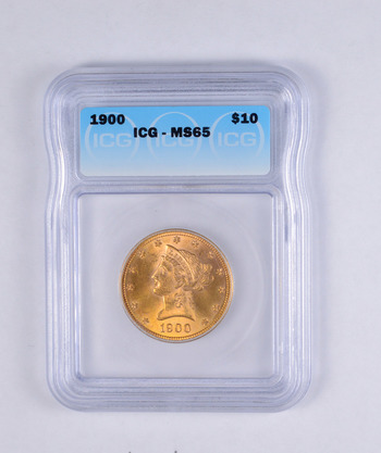 MS65 1900 $10.00 Liberty Head Gold Eagle - JEXX - Graded ICG