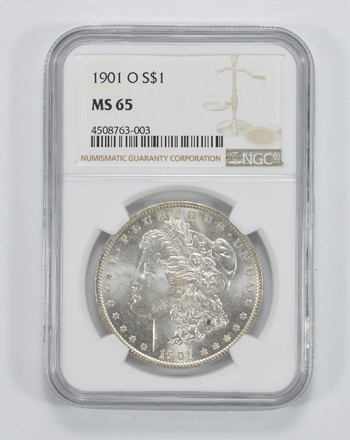 MS65 1901-O Morgan Silver Dollar - NGC Graded