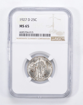 MS65 1927-D Standing Liberty Quarter - Graded by NGC