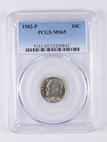 MS65 1982-P Roosevelt Dime - Graded PCGS