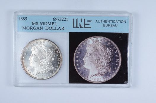 MS65 DMPL 1885 Morgan Silver Dollar - Graded INS